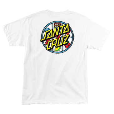 SANTA CRUZ Jackpot Dot T-Shirt - White