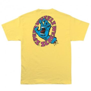 Santa Cruz - Speed Wheels Screaming Hand Shirt (Banana)