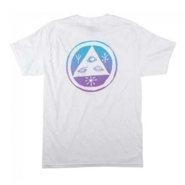 Welcome Skateboards Talisman T-Shirt - White / Blue / Lavender