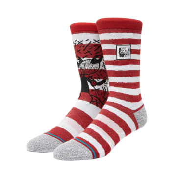 Stance Socks - Stance Mickey TV Keith Haring Socks | White & Red