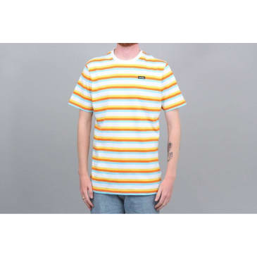 Civilist Stripe T-Shirt - White / Yellow