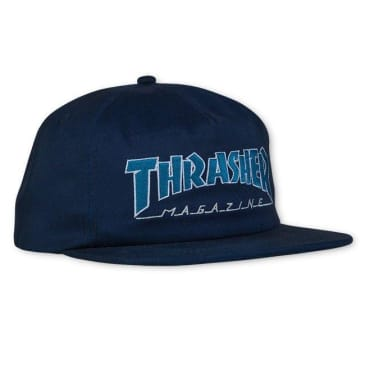 Thrasher Outlined Snapback - Navy