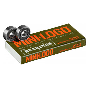 Mini Logo Skateboard Bearings 8 Pack