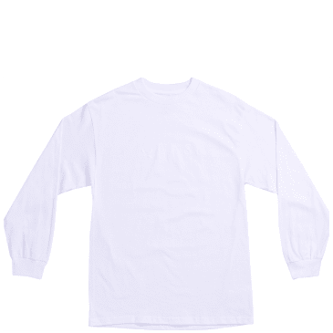 Quasi Wordmark Long Sleeve T-Shirt - White