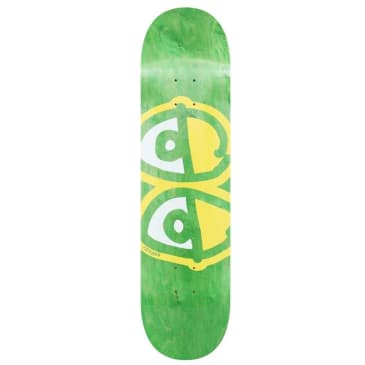 Krooked Team Eyes Yellow Skateboard Deck - 8.38 (Green Stain)