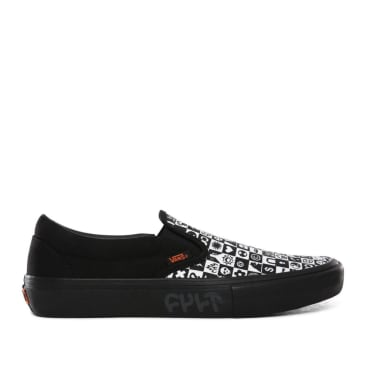 Vans CULT Slip On Pro Skate Shoes - Black Checker