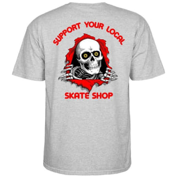 Powell Peralta SYLSS Ripper T-Shirt - Gray