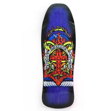 Dogtown Scott Oster Reissue Skateboard Deck Purple Stain / Black Fade - 10.25 x 30.875
