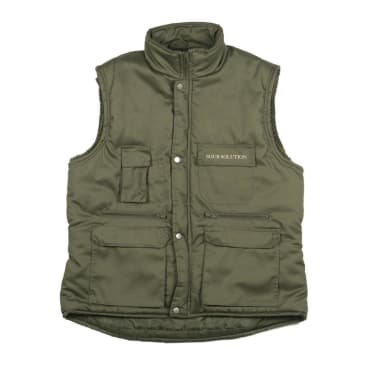 Sour Solution - City Safari Vest - Military Green