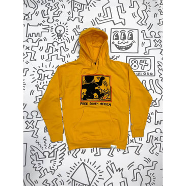DIAMOND X HARING SOUTH AFRICA HOODIE - YELLOW