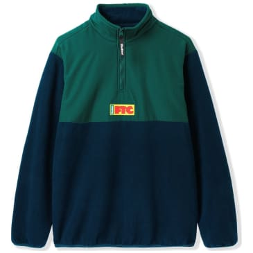 Butter Goods x FTC Flag 1/4 Zip Pullover - Navy / Forest