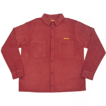 WKND - Major Cord Button Up - Burgundy
