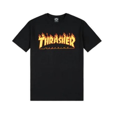 Thrasher Youth Flame Logo Tee (Black)