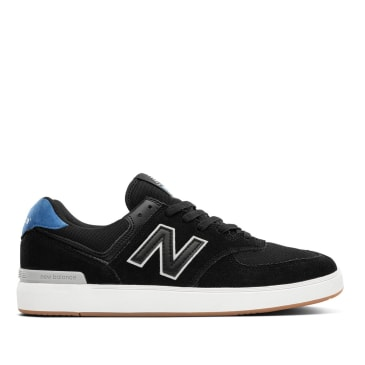 New Balance Numeric All Coast 574 Skate Shoe - Black / Cobalt Blue