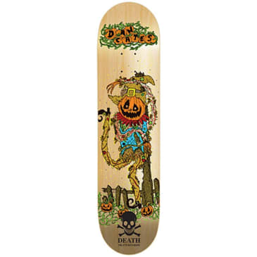 "Death Skateboards - Dan Cates Pumpkin Deck 8.5"" Wide"