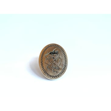 Pass~Port - Copper Die Struck Pin