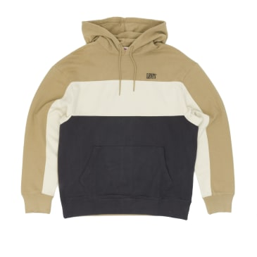 Levis Wavy Colourblock Hooded Sweatshirt - Gold/Fog