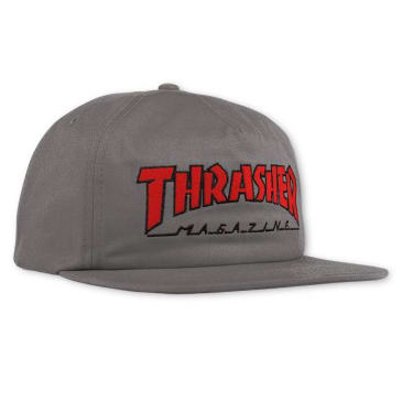 Thrasher Outlined Snapback Cap Grey/Red