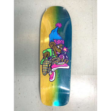 New Deal Skateboard Products Sargent Monkey Bomber Neon Deck 9.625