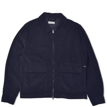 Pop Trading Company Full Zip Jacket Minicord - Navy