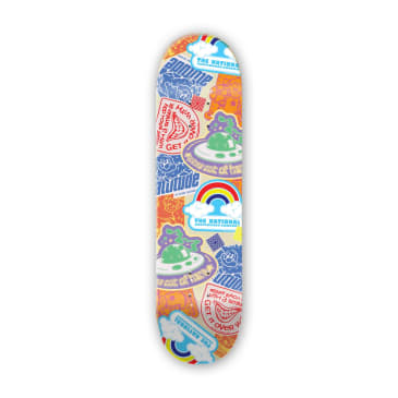 "The National Skateboard Co. - 8.25"" Bobby Engvall Slap It Skateboard Deck - (High Concave)"