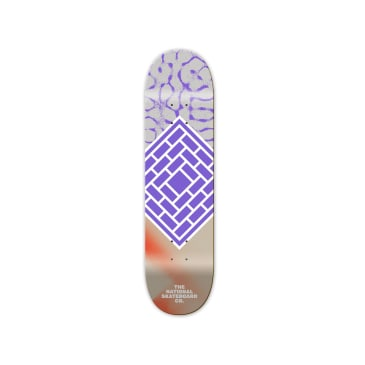 The National Skateboard Co. Classic Purple Skateboard Deck - 8.375""