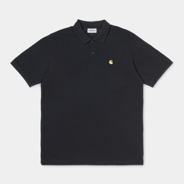 Carhartt WIP Chase Pique S/S Polo Black