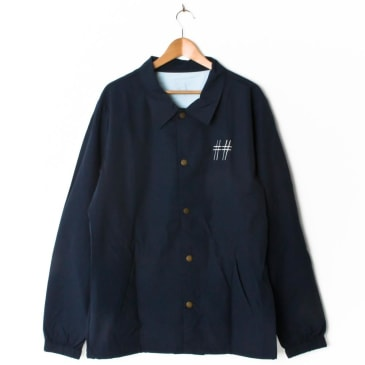Scumco & Sons Coach Jacket Navy (with Back Print)