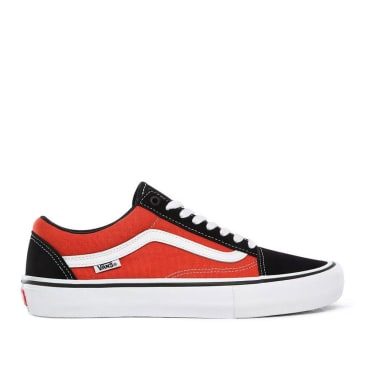 Vans Old Skool Pro Skate Shoes - Black / Orange