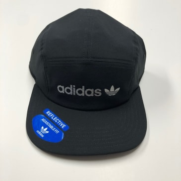 ADIDAS ORIGINALS HAT RELAXED TRAINER STRAPBACK BLK/REFLECTIVE SILVER