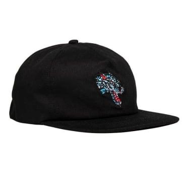 THRASHER Leopard Mag Snapback Hat Black
