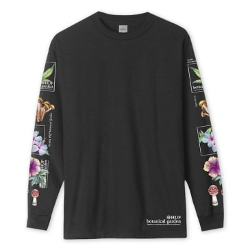 HUF Botanical Garden L/S T-Shirt Black