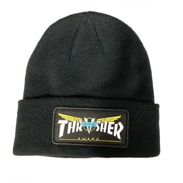 Thrasher Magazine Venture Trucks Black Patch Beanie