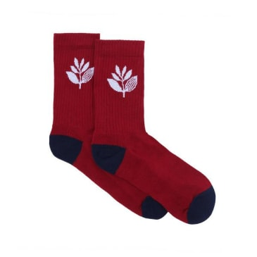 Magenta Skateboards - Plant Socks - Burgundy / Navy / White