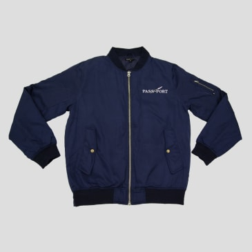 """PASS~PORT """"LAVENDER"""" FREIGHT JACKET NAVY"""