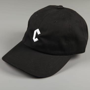 Chrystie 'Small C' 6 Panel Dad Hat (Black)