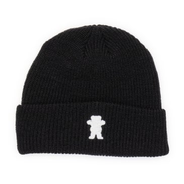 Grizzly OG Bear Embroidered Beanie - Black