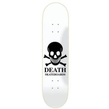 Death Skateboards OG Skull Skateboard Deck - White/Black