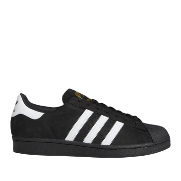 adidas Skateboarding Superstar ADV Shoes - Core Black / FTWR White / Gold Met