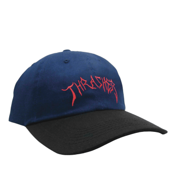 Thrasher Lotties Embroidered Old Timer Hat - Navy/Black