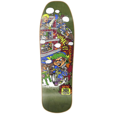 """New Deal Howell Trycycle Kid HT Deck 9.625"""" Green"""
