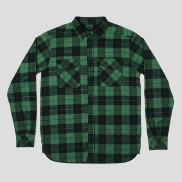 """PASS~PORT """"WORKERS"""" FLANNELETTE SHIRT FOREST"""