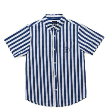 """THE QUIET LIFE- """"BARNUM SHORT SLEEVE BUTTON DOWN"""" (NAVY/WHITE)"""