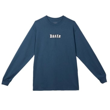 Baker Skateboards Brand Logo Long Sleeve T-Shirt - Slate