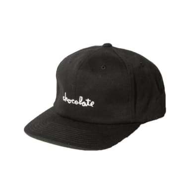 Chocolate Chunk 6 Panel Strapback (Black)