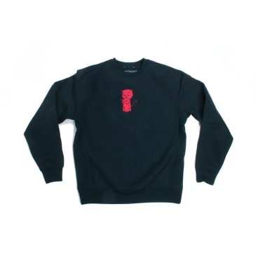 Orchard Crewneck Thoughts & Prayers Black Cross Weave