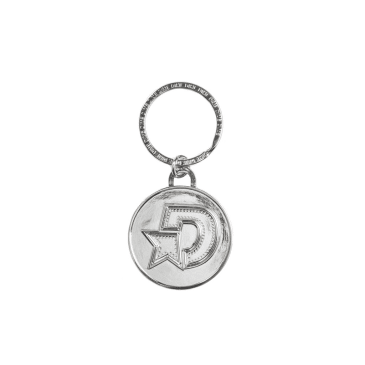 "Dime ""D"" Star Keychain Silver"