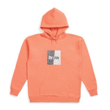 Brixton - Crowd Hooded Fleece - Coral
