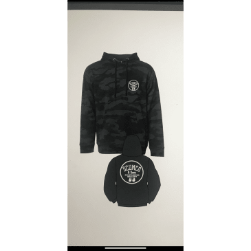 Scumco And Sons Grey Camo Hoodie