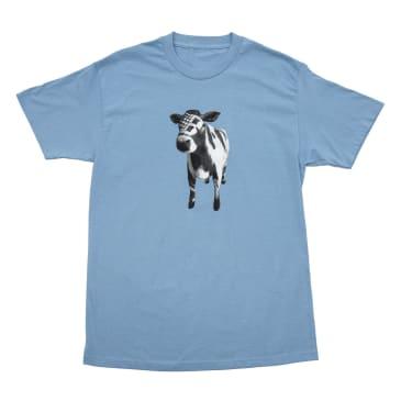 Bronze 56k Cow T-Shirt - Carolina Blue